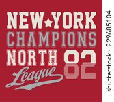 sport nyc college typography  t ...   Shutterstock .eps vector #229685104