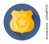 police badge icon | Shutterstock .eps vector #229689919