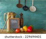 menu w. food ingredients and...