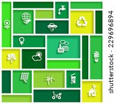 ecology icons in flat design ...   Shutterstock .eps vector #229696894