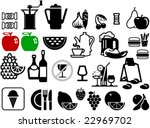 collection of food and... | Shutterstock .eps vector #22969702