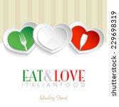 italian restaurant logo ... | Shutterstock .eps vector #229698319