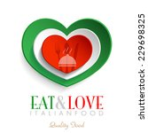 italian restaurant logo ... | Shutterstock .eps vector #229698325