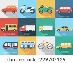 flat cars concept set icon... | Shutterstock .eps vector #229702129
