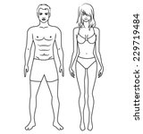 human body  characters fashion...   Shutterstock .eps vector #229719484