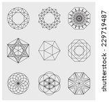 line design elements. frames ... | Shutterstock .eps vector #229719487