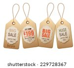 sale tags. concept of discount... | Shutterstock . vector #229728367