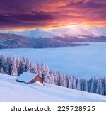 colorful winter morning in the... | Shutterstock . vector #229728925