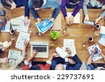 group of business people in a... | Shutterstock . vector #229737691