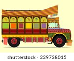 the old jingle truck. vector... | Shutterstock .eps vector #229738015