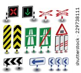 road sings 3 | Shutterstock .eps vector #229738111