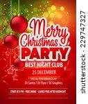 christmas party flyer. vector... | Shutterstock .eps vector #229747327