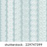 White Lacy Vintage Elegant Tri...
