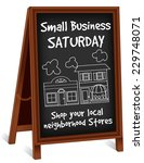 small business saturday chalk... | Shutterstock .eps vector #229748071