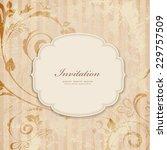 vintage invitation card | Shutterstock .eps vector #229757509