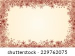 christmas border | Shutterstock .eps vector #229762075