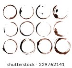 coffee stain rings vector | Shutterstock .eps vector #229762141