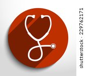 vector stethoscope web icon... | Shutterstock .eps vector #229762171