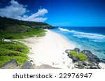 beautiful white sand tropical... | Shutterstock . vector #22976947