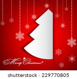 christmas tree background | Shutterstock .eps vector #229770805
