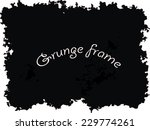 abstract grunge frame. vector... | Shutterstock .eps vector #229774261