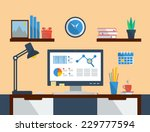 flat design vector illustration ... | Shutterstock .eps vector #229777594
