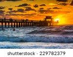 sunset over the fishing pier... | Shutterstock . vector #229782379