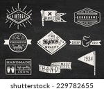 set of chalk hipster vintage... | Shutterstock .eps vector #229782655