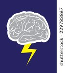 brainstorm cloud with lightning ... | Shutterstock .eps vector #229783867