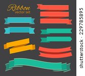 business ribbons vintage style...   Shutterstock .eps vector #229785895