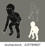 silhouette and contour of the... | Shutterstock .eps vector #229789807