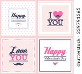happy valentine's day cards on... | Shutterstock .eps vector #229791265