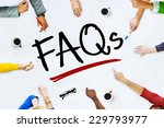 people working and faqs concept | Shutterstock . vector #229793977