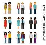 people design over white... | Shutterstock .eps vector #229794625