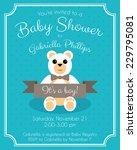 retro baby shower invitation... | Shutterstock .eps vector #229795081