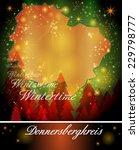 Map of Donnersbergkreis in Christmas Design