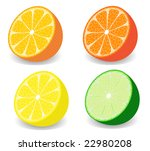 raster illustration of a set of ... | Shutterstock . vector #22980208
