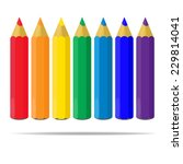 varicolored color pencils set... | Shutterstock .eps vector #229814041