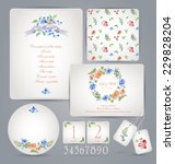 set of templates for... | Shutterstock .eps vector #229828204