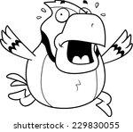 a cartoon blue jay running in a ... | Shutterstock .eps vector #229830055