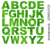 alphabet a to z made from leaf... | Shutterstock . vector #229831525