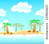 beach background with palm ... | Shutterstock .eps vector #229833637