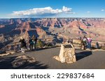Tourists At Grand Canyon...