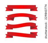 red ribbons | Shutterstock .eps vector #229843774