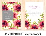 wedding invitation cards with... | Shutterstock .eps vector #229851091