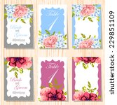 wedding invitation cards with... | Shutterstock .eps vector #229851109