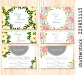 wedding invitation cards with... | Shutterstock .eps vector #229851115