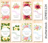 wedding invitation cards with... | Shutterstock .eps vector #229851124