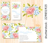 wedding invitation cards with... | Shutterstock .eps vector #229851925