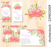 wedding invitation cards with... | Shutterstock .eps vector #229852009